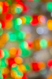 Christmas Lights. Bokeh defocused background Royalty Free Stock Photo