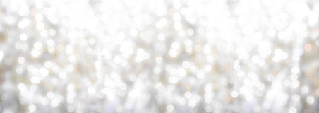Christmas lights with a bokeh effect Royalty Free Stock Images