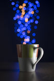 Christmas lights with bokeh Stock Images