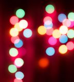 Christmas lights and bokeh Royalty Free Stock Image