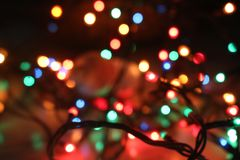 Bokeh. Christmas lights bokeh. vibrant colours stock images