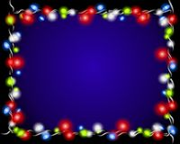 Christmas Lights Border Frame Stock Image