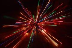 Christmas Lights Burst. Burst of Abstract Colorful Christmas Lights Stock Photography