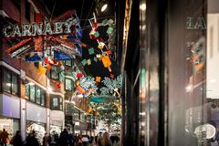 Christmas lights 2016 in Carnaby, London Stock Photos
