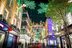 Christmas lights 2016 in Carnaby, London Stock Photo