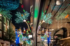 Christmas lights 2016 in Carnaby, London Stock Photography