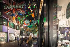 Christmas lights 2016 in Carnaby, London Stock Image