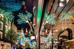 Christmas lights 2016 in Carnaby, London Royalty Free Stock Photo
