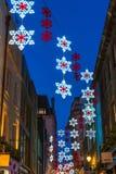 Christmas lights on Carnaby Street, London UK Royalty Free Stock Image