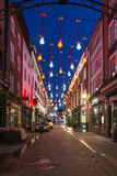 Christmas lights on Carnaby Street, London UK Stock Photo