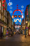 Christmas lights on Carnaby Street, London UK Royalty Free Stock Photos