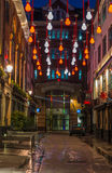 Christmas lights on Carnaby Street, London UK Stock Photography