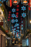 Christmas lights on Carnaby Street, London UK Stock Photography