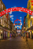 Christmas lights on Carnaby Street, London UK Royalty Free Stock Image