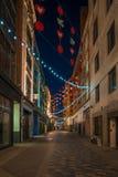Christmas lights on Carnaby Street, London UK Royalty Free Stock Photos