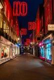 Christmas lights on Carnaby Street, London UK. LONDON - NOVEMBER 17, 2018: Christmas lights on Carnaby Street, London UK. Carnaby Christmas lights feature some stock photo