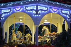 Christmas lights carousel Stock Photography