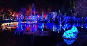 Christmas lights celebration and display Stock Photography