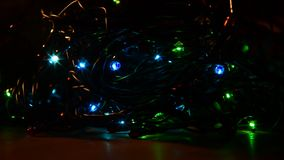 Christmas lights are a classic symbol. stock footage