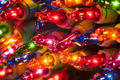 Christmas Lights Closeup Royalty Free Stock Image