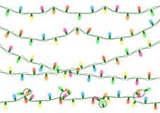 Christmas lights collection Royalty Free Stock Photo