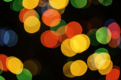 Christmas lights stock photography