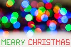 Christmas Lights Color Bokeh Stock Photo
