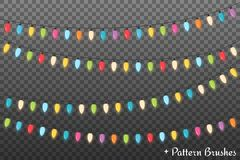 Christmas Lights. Colorful Christmas lights, dark background Stock Images
