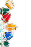 Christmas lights with copy space Royalty Free Stock Image