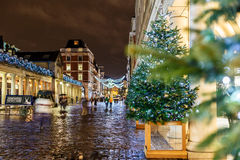 Christmas lights 2016 in Covent Garden, London. England stock images