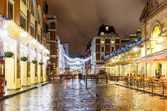 Christmas lights 2016 in Covent Garden, London. England royalty free stock photos