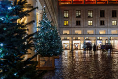 Christmas lights 2016 in Covent Garden, London. England stock photography