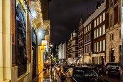 Christmas lights 2016 in Covent Garden, London. England stock photos