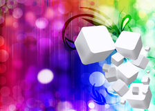 Christmas Lights 3d Cubes Background Royalty Free Stock Image