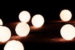 Christmas lights. On the dark background Stock Photo