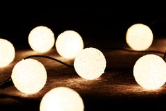 Christmas lights. On the dark background Royalty Free Stock Image