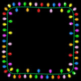 Christmas lights on dark background with space for text. Vector illustration of christmas lights on dark background with space for text Stock Images
