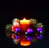 Christmas lights on a dark background. Christmas theme Royalty Free Stock Image