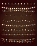 Christmas lights. On dark background. vector set eps10 Stock Photos
