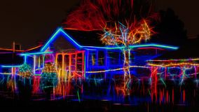 Christmas lights decorating a house, Toronto, Canada vector illustration