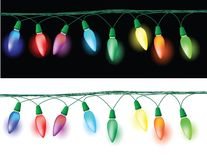 Christmas lights decoration Stock Photo