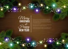 Christmas lights decoration season Stock Photography