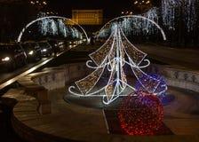 Christmas Lights and Decorations Stock Image