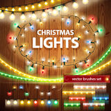 Christmas Lights Decorations Set Royalty Free Stock Photos