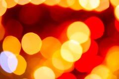 Christmas  lights defocused background Stock Photo