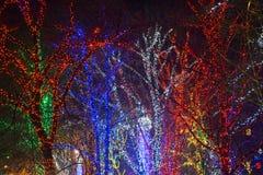 Christmas lights. Defocused christmas lights background on the photo stock photo