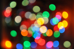 Christmas lights, disco soft lights Royalty Free Stock Images