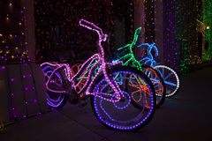 Christmas Lights at Disney's Hollywood Studios - Bicycles Royalty Free Stock Photos