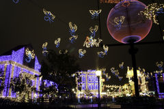 Christmas Lights at Disney's Hollywood Studios Stock Images