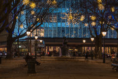 Christmas Lights Display on Duke of York, London UK Royalty Free Stock Photography